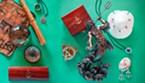 Maritime treasures and fisheye jewelery.