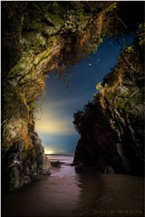 Mysteries of the night reveal themselves in the darkness like the secret caves of the mind — if one knows where to look, how to see…  This is a single exposure of a beach cave on the rugged coast of Humboldt County, California. April 9, 2019.