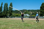 Julin Williams of Redding was competing in her first Highland Games.