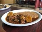 Sinaloa-style beef barbacoa.
