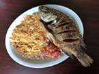 Crispy fried mojarra.