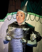 The Tin Man flinches at the sight of Princess Langwidere.