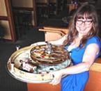 Rachel Hoeflin-Lay hoists a showstopping oyster carousel.