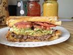 The Bomber Burger, sandwiched between sandwiches.
