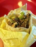Stop looking at the menu and order the carne asada burrito.