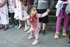 One-year-old Ripley Lopez may have been the youngest zombie in this years walk.