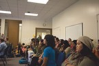 Students and staff filled the Goodwin Forum for the Humboldt State University Senate on Thursday.