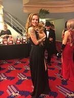 Calli Hesseltine and her plus-one Cozy both wore black dresses.