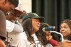Lawson's mother, Michelle-Charmaine Lawson, spoke to the crowd gathered to celebrate the life of her son.