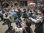The Humboldt Highlanders in Old Town on 4th of July, 2016.