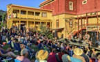 A packed house watched and listened as The Absynth Quartet wrapped up the 39th annual Humboldt Folklife Festival at the Dell'Arte Amphitheatre in Blue Lake on Saturday. The crowd got up and danced to the last several songs.