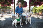 Geraldine Goldberg with her dogs.