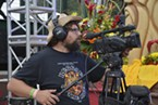 A camera operator at work during Marla Brown's set on Sunday afternoon.