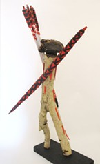 One of Brian Tripp's sculptures showing at Piante Gallery.