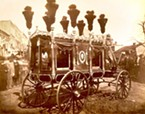 Taken in 1865, this is the only known photograph of Abraham Lincoln's hearse, and the only image Eric and his team had to work from to design and create the historic replica.