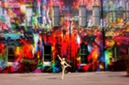 Eureka Mural with Dancer Carrie Badeaux, Photographer Stephanie Carter, at The Ink People
