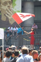 Canadians celebrate Cannabis Day in 2014.