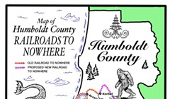 Map of Humboldt County Roads to Nowhere
