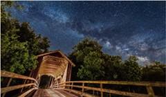 North Coast Night Lights:The Covered Bridge of Elk River