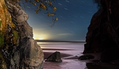North Coast Night Lights: Musings at Moonstone Cave