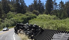 Clearing Overturned Semi Will Close 101 for About an Hour