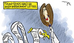 Trump sends Nancy an angry impeachment letter