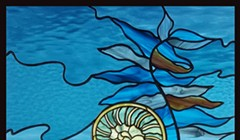 Local Artist's 'Flatten the Curve' Stained Glass was Purchased as a Gift for Dr. Anthony Fauci, Lost Coast Outpost Reports