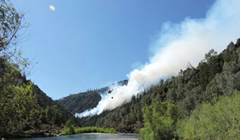 SECOND UPDATE: Growing Fire Near Burnt Ranch, Some Structures Threatened