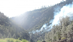 Flat Fire Stretches to 100 Acres, Long Delays Expected on 299