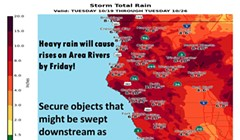 Rain to Cause Rising Rivers; Localized Flooding, Slides Possible