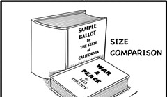 Sample Ballot for California