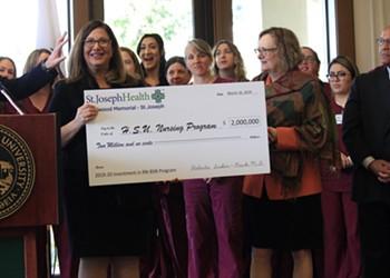 St. Joseph Hospital Donates $2 Million to Jumpstart HSU's New Nursing Program