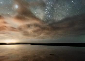 North Coast Night Lights: Ray of Beauty at Moonstone Beach