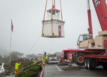 Trinidad Memorial Lighthouse Moved