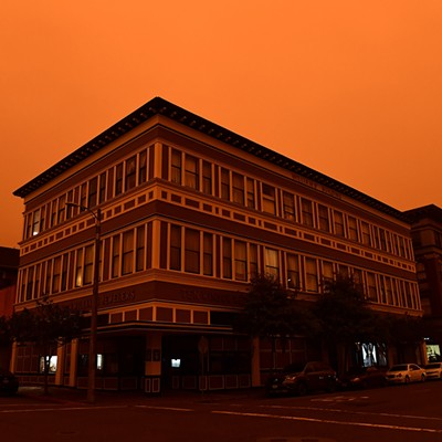 Orange Skies in Eureka