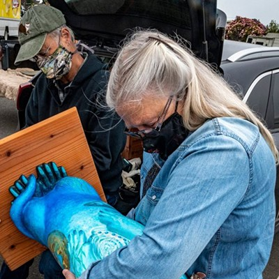 Five North Coast Otters Public Art Initiative Sculptures Installed