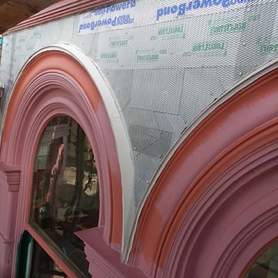 Carson Block Building Restoration - A Glittery Effect