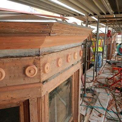 Carson Block Building Restoration - Wooden Blooms