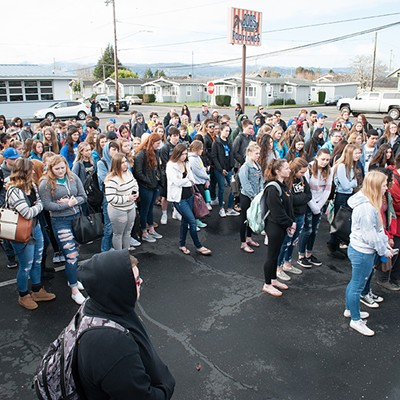 Walkout at Fortuna High School