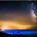 North Coast Night Lights: Smoky Coastal Skies and Milky Way
