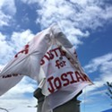 McKinley Draped in 'Justice for Josiah' Banner in Dual Act of Protest