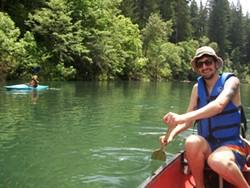 PHOTO BY TOMMI TRUJILLO - Colin Trujillo on the river.