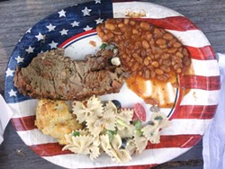 PHOTO BY LINDA STANSBERRY - Stars and stripes and beef and beans.