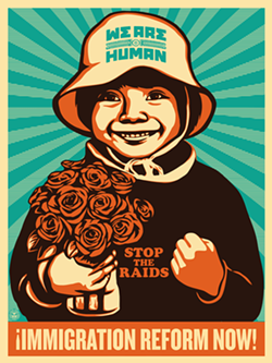 COURTESY OF THE ARTIST - Ernesto Yerena's poster produced in collaboration with the Amplifier Foundation.