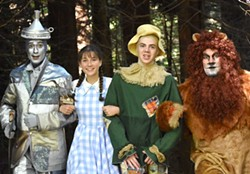 SUBMITTED - James Gadd, Hannah Davis, Ty Vizenor and Tristan Roberts hit the Yellow Brick Road for HLOC.