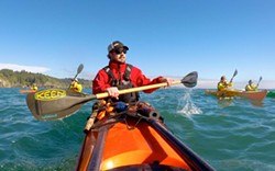 Paddling Trinidad Bay / Photo courtesy of Pacific Outfitters