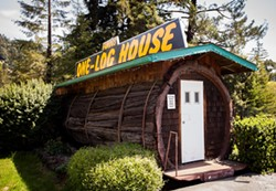AMY KUMLER - The One-Log House, just off of U.S. Highway 101.