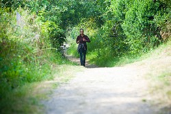 PHOTO BY MARK MCKENNA - A runner on the Hammond Trail.