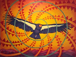 Aachviivkaam tu'ípak (Condor Returns), 2018, acrylic on canvas