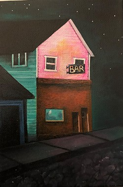 COURTESY OF THE ARTIST - Paintings by the Journal's own Cassandra Curatolo at Humboldt Bay Coffee.
